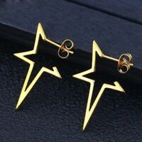 Fashion Stainless Steel Star Earrings Charm Ladies Jewelry Gift Party Wedding