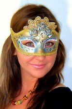 Blue Masquerade Mask Marie Antoinette OVERNIGHT Most Metro Italian Made