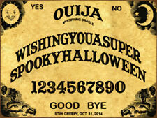 Ouija Board Spooky Halloween Metal Sign