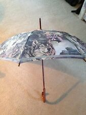 Vintage Collectible Umbrella With Wolf/Native American Artwork By Bruce Lakofka