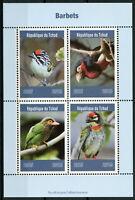 Chad 2019 MNH Barbets Barbet 4v M/S Birds Stamps
