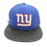 NY Giants Blue New Era 9FIFTY NFL Leather Strapback Hat Cap Leather Bill