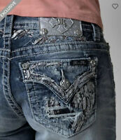 MISS ME Jean Shorts Size 30 STRETCH Embellished Women's