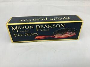 Mason Pearson B4 'Pocket Bristle' Hair Brush Dark Ruby N OB