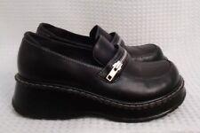 03f08729c4c Candies Zipper Vintage 90s Womens Size 8 Platform Shoes Black