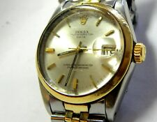 Rolex Oyster Perpetual date 1970s Yellow Gold SS 1500 MEN'S watch