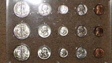 1946-PDS Uncirculated to GEM BU U.S. Coins 15-Coin Mint Set-RARE S/S Walker!!