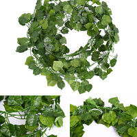 12pcs Artificial Ivy Leaves Fake Vine Greenry Plants Hanging Home Garden Decor