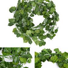 12pcs Artificial Ivy Leaves Fake Vine Greenry Plants Hanging Home Garden Decor