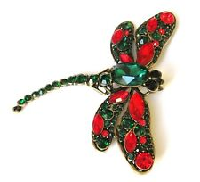 Vintage Costume Jewellery Large Dragonfly Brooch