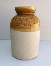 Vintage J T Morton Provision Merchant Ceramic Jar London Old Sugar Storage Pot