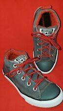 Converse All Star Boy's Size 3 Junior Gray Chuck Taylor Street Mid Top Shoes