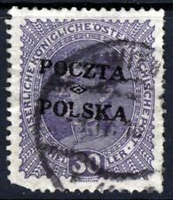 Polonia 1919 30 H. Violeta De Austria sobreimpresa Poczta Polska SG 38 VFU