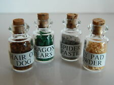 (X1.7) DOLLS HOUSE SET OF FOUR WITCHES POTIONS