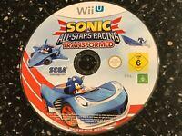 NINTENDO Wii-U VIDEO GAME SONIC & ALL STARS RACING TRANSFORMED PAL +DISC VGC