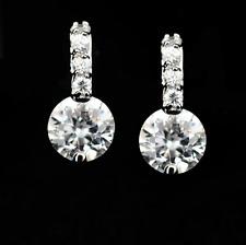 925 Argento Sterling 6mm rotondo cristallo incastonati Orecchini Da Donna Regali