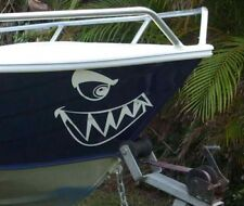 """""""SHARKY"""" SHARK MOUTH BOAT BOW MARINE DECAL STICKER GRAPHIC KIT"""