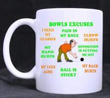 Bowls Excuses, Funny  Novelty 11oz Tea/Coffee Mug, birthday, Gift, fathers day