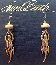 NEW! Laurel Burch SALAMANDER Antiqued Gold Lead Free Pewter Retired Earrings