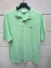 Polo LACOSTE Devanlay vert clair manches courtes coton jersey 5 made in France