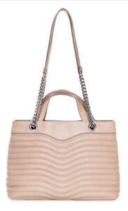 Rebecca Minkoff Quilt Satchel Color Doe Pink Shoulder Bag