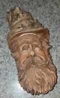 SUPERB Vintage Signed/Numbered WOOD SPIRIT Carving SCULPTURE~Old Man~COOGAN!