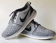 Nike Roshe Two Flyknit Mens Grey White Athletic Running Shoes 844833-005 sz 11