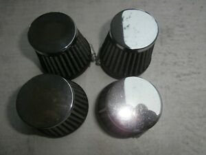4 x 50mm Motorcycle Cone Air Filters NOS Motorbike