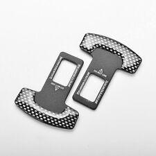 2xUniversal-Carbonfaser -Autosicherheitsgurt Buck den Alarm Stopper Clip HOT