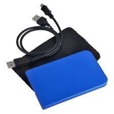 """New USB 2.0 2.5"""" SATA Hard Disk Drive HDD Silver Enclosure/Case #B"""
