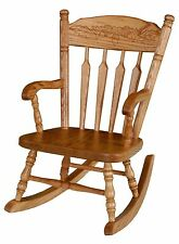 Amish Kids Toddler Rocking Chair Traditional Post Spindle Solid Oak