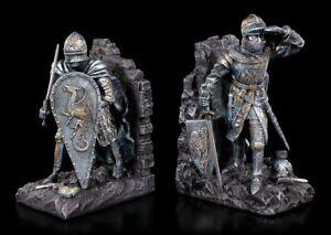 Buchstützen Set - Ritter mit Drachenschild - Mittelalter Deko Bücherregal