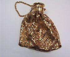 Whiting & Davis 1930's Beggar's Style Purse * Gold Mesh