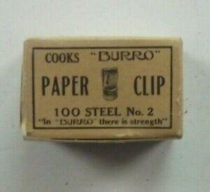 "Vintage Cooks ""Burro"" Paper Clips - No. 2, 100 Count"