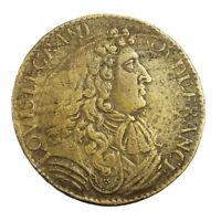 Jeton de Compte Louis XIV Revers Trésor Royal (Aerarium Reginum) Token France