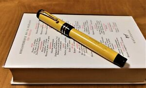 Parker Duofold Senior Mandarin Yellow Fountain Pen 2 Rings Band  -  M 14K (1928)