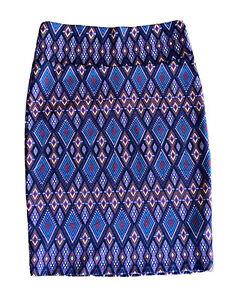 Lularoe Cassie skirt Size M Purple Geometric Knee length Skirt