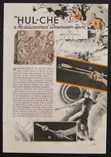 Hul-Che Mayan Throwing Sticks 1937 vintage original How-To build Plans