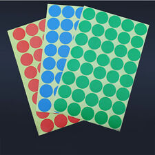 400 Round Code Paper Sticker Labels Sticky Dots 10 Color Bulk Wholesale 25mm