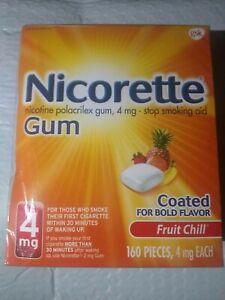 Nicorette gum 4mg fruit chill 160 pieces exp 6/22