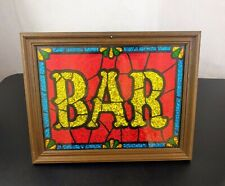 Vtg A&F Products Glitter Art Bar Sign Picture #65864 Liquor Advertise Retro Beer