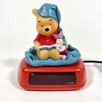 Fantasma: Disney- Winnie The Pooh & Piglet Night Light Alarm Digital Clock Works