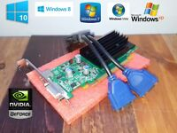 Dell OptiPlex GX280 GX620 320 330 360 380 390 580 Dual Monitor VGA Video Card