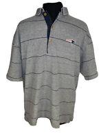 Greg Norman Gray Short Sleeve Athletic Polo Men's Medium 100% Cotton