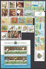 San Marino 1990 Annata Completa 23 v. + foglietto e libretto **