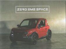 Tazzari Zero EM2 Space Prospekt / Brochure_Genf / Geneva 2017