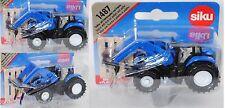 Siku Super 1487 New Holland T8.390 Traktor mit Frontlader und Palette ca. 1:87