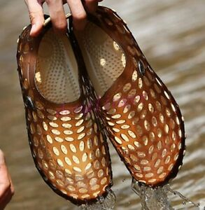Chic Mens Womens Summer Sandals Beach Fishing Shoes Hollow Out Slippers Mules