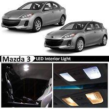 2015-2016 Mazda 3 Sedan Hatchback Interior White LED Light Package Kit + TOOL