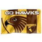 Official AFL Hawthorn Hawks Game Day Large Flag (NO STICK/FLAG POLE)